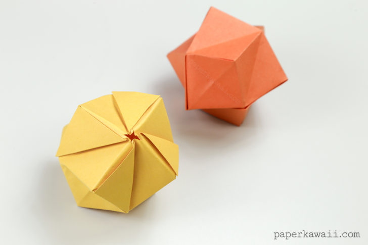 Origami Stellated Octahedron / Inflatable Star Instructions via @paper_kawaii