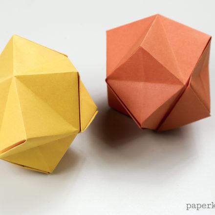 Modular Origami Star of the Four Seasons Instructions via @paper_kawaii