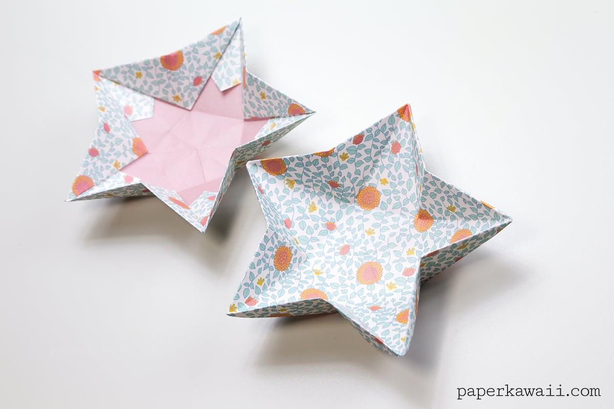origami star bowl instructions paper kawaii
