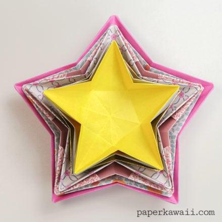 5 pointed origami star via @paper_kawaii