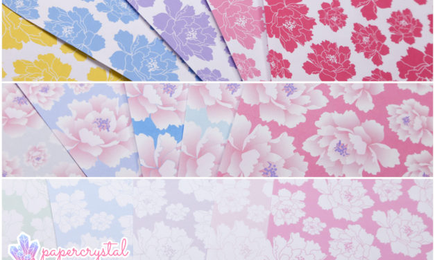 Free Origami Paper – Peony Pattern