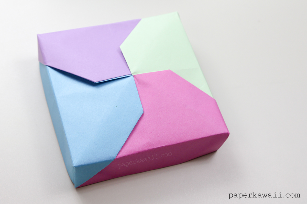 Origami Paper Boxes With Lids