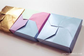 Modular Origami Masu Box Lid - 'Twist' via @paper_kawaii