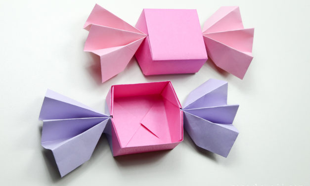 Origami Candy Box & Lid Instructions
