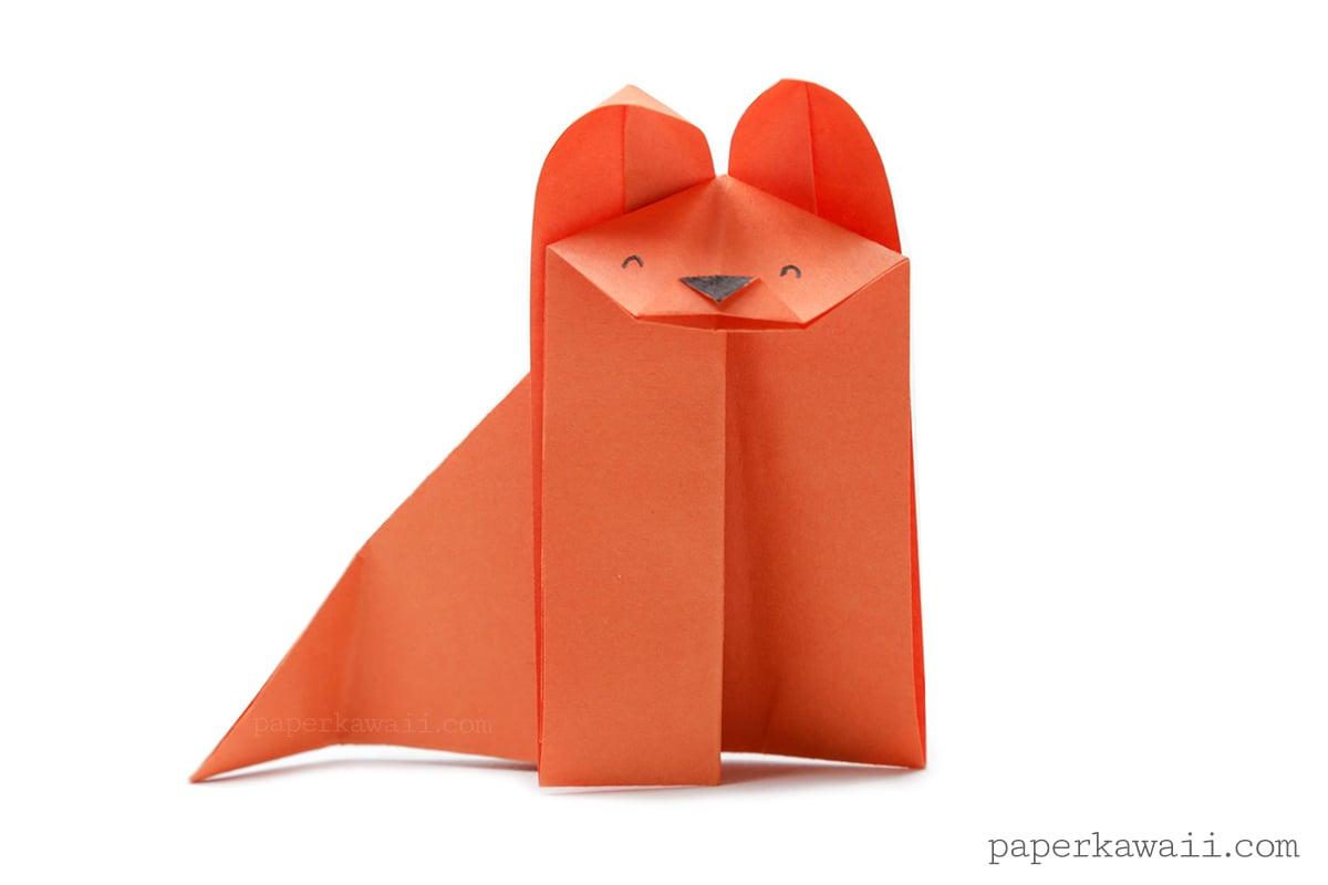 Easy origami fox video tutorial paper kawaii jeuxipadfo Choice Image