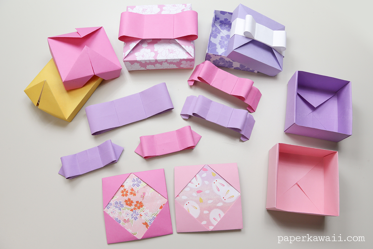 Origami Gift Box - Mix & Match Lids - Paper Kawaii - photo#9