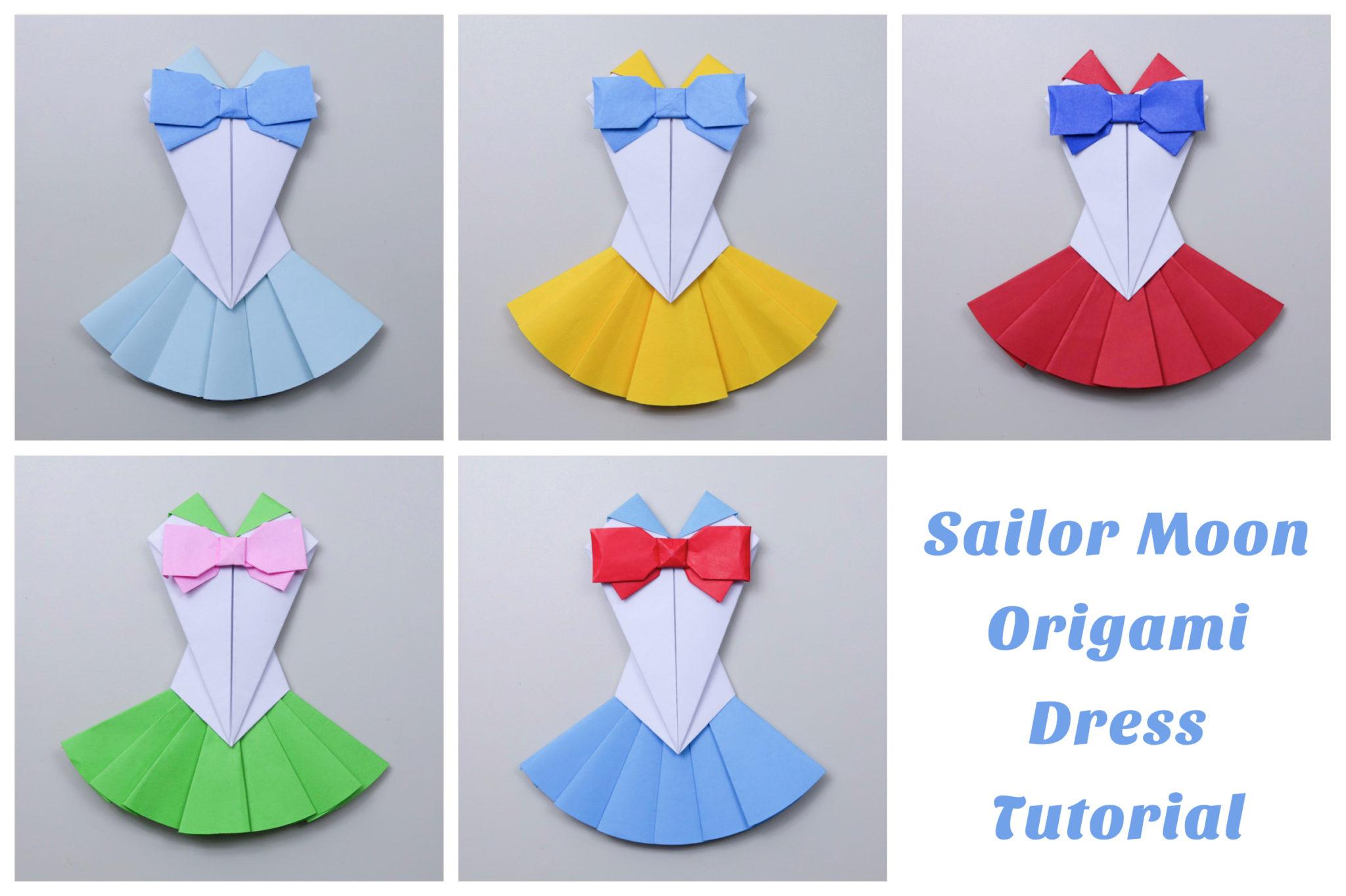 Origami Sailor Moon Dress Tutorial Paper Kawaii