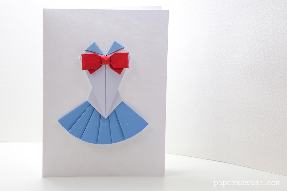 Origami Sailor Moon Dress Tutorial - Paper Kawaii - photo#35