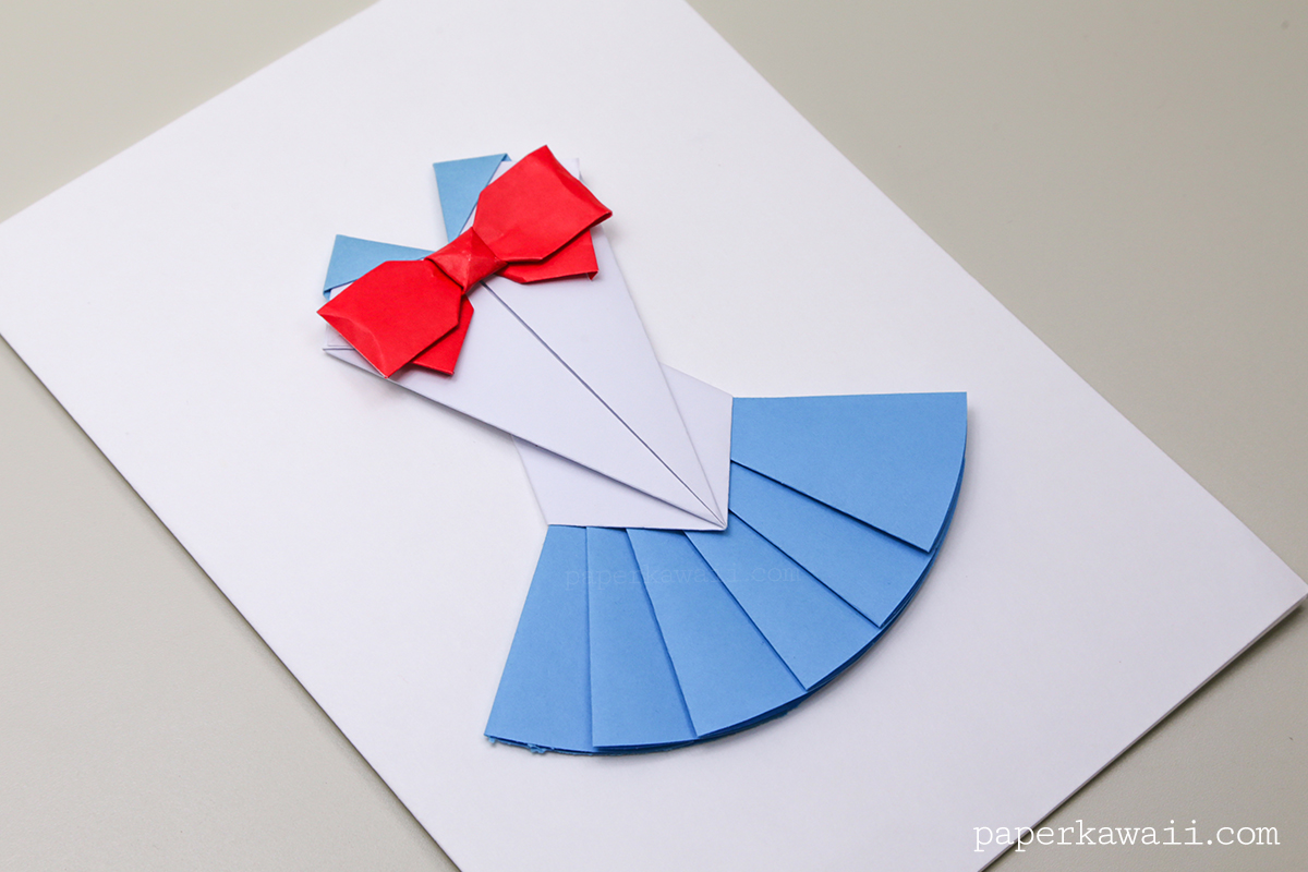 with Bow Instructions - Layed Effect - Paper Kawaii - #origami #paper ...