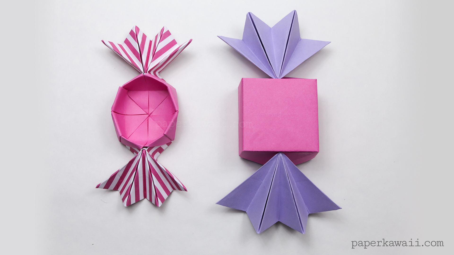 round origami candy box instructions paper kawaii