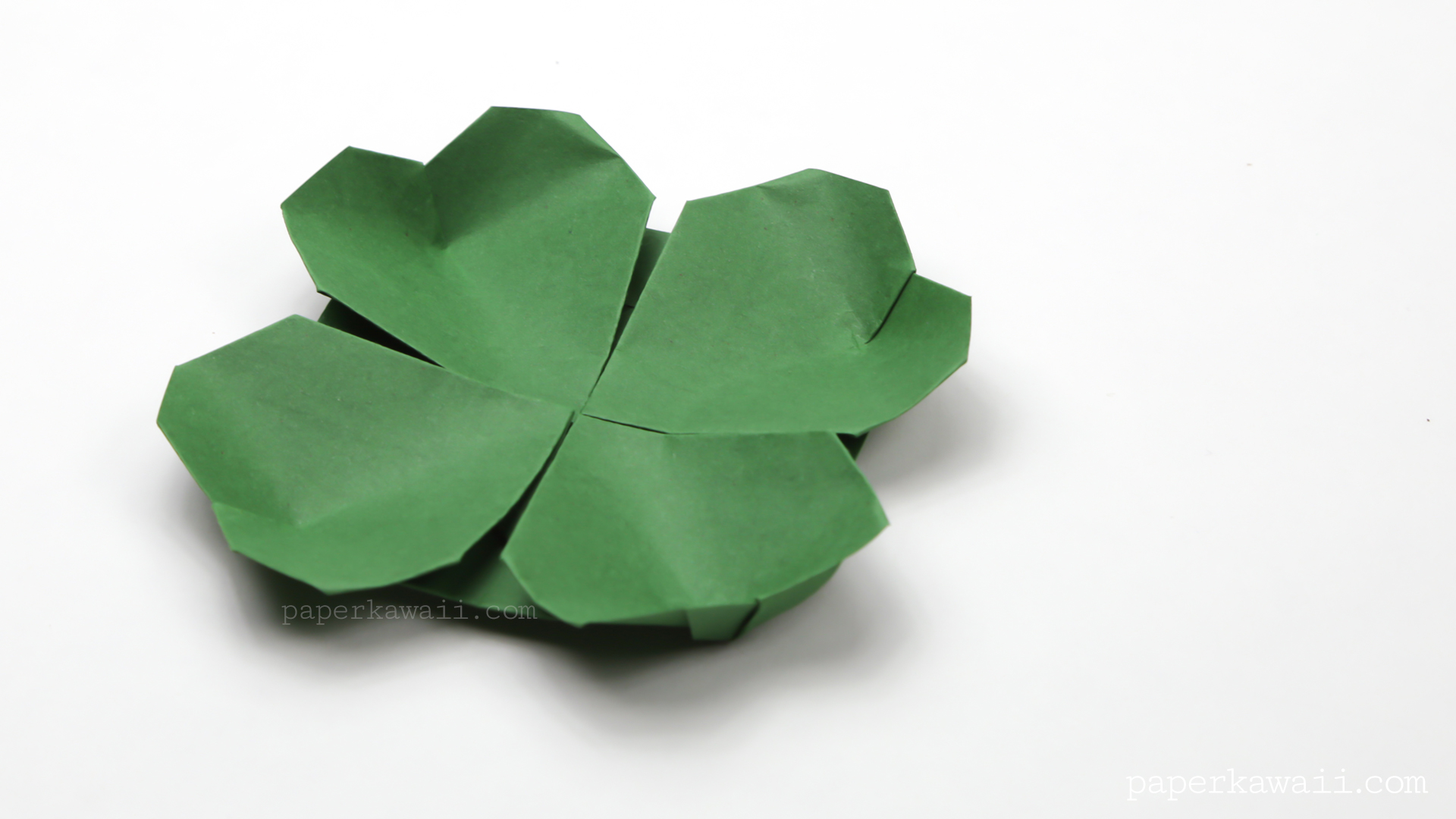 origami clover flower instructions paper kawaii