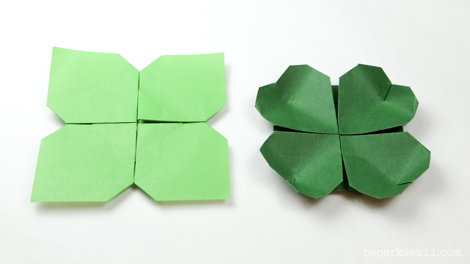 origami clover flower instructions paper kawaii