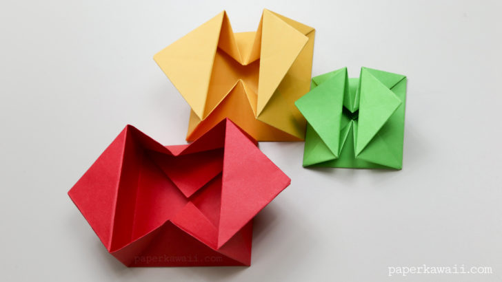 Origami Envelope Box Instructions via @paper_kawaii