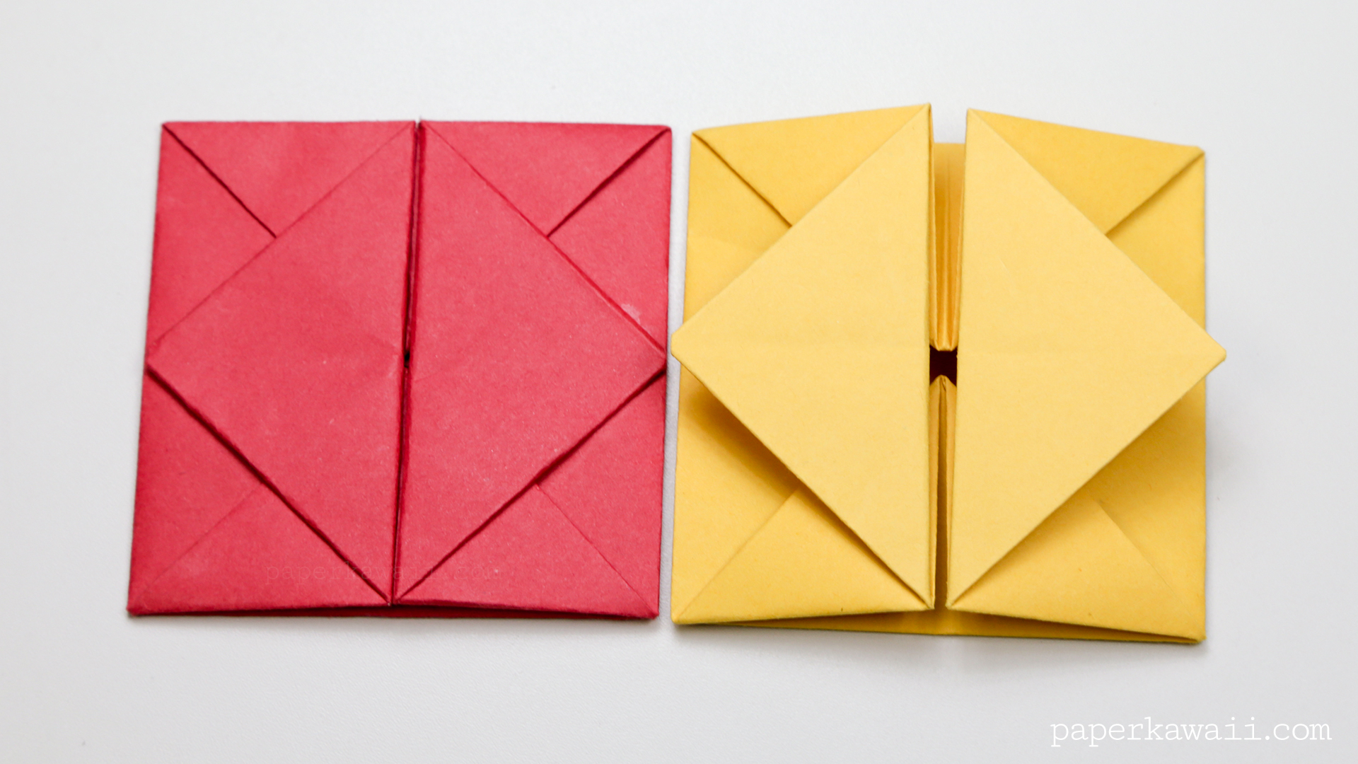 origami envelope box instructions paper kawaii