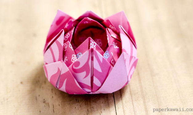 Traditional Origami Lotus Instructions