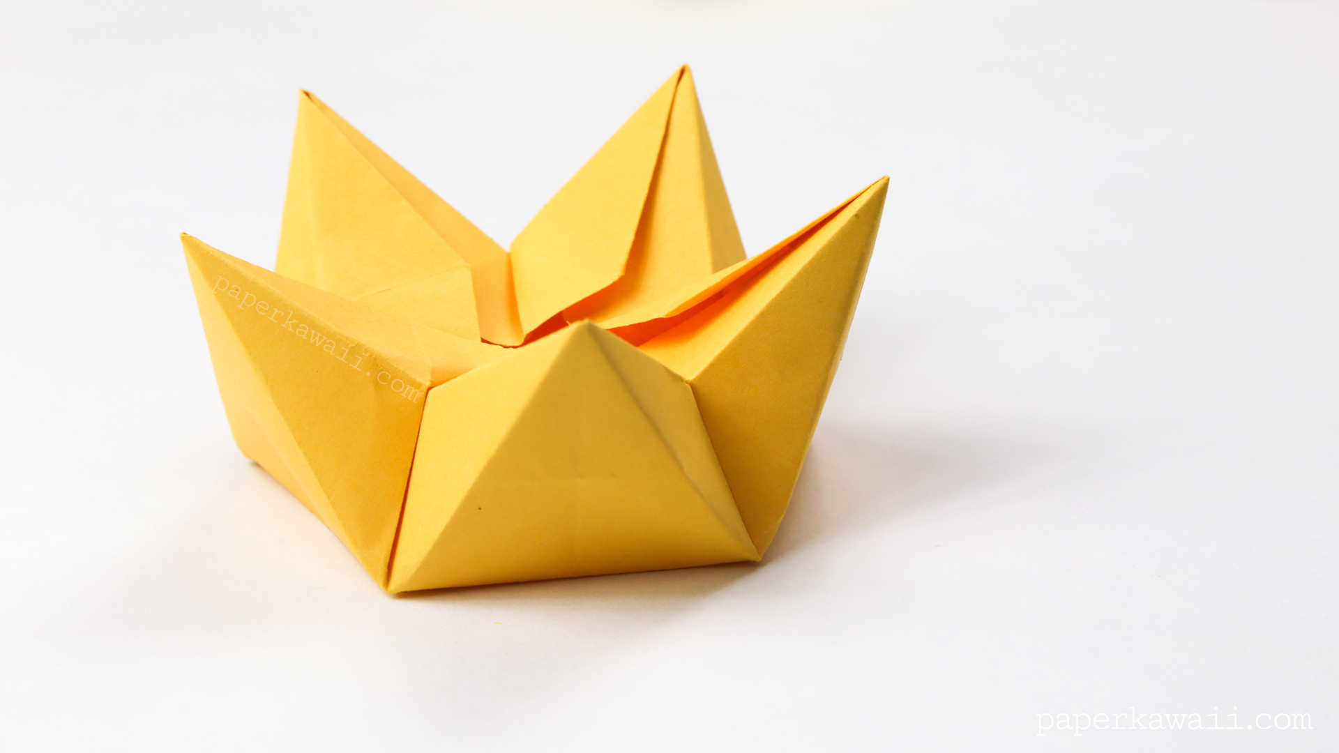 Instructions origami Crane Beau origami Flower Bowl