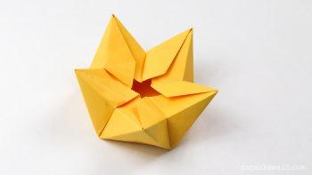 origami star flower crown tutorial #origami #diy #flower #crown #star #bowl