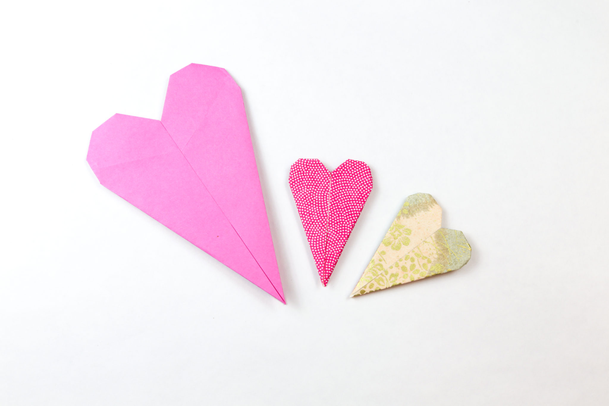 origami heart bookmark instructions