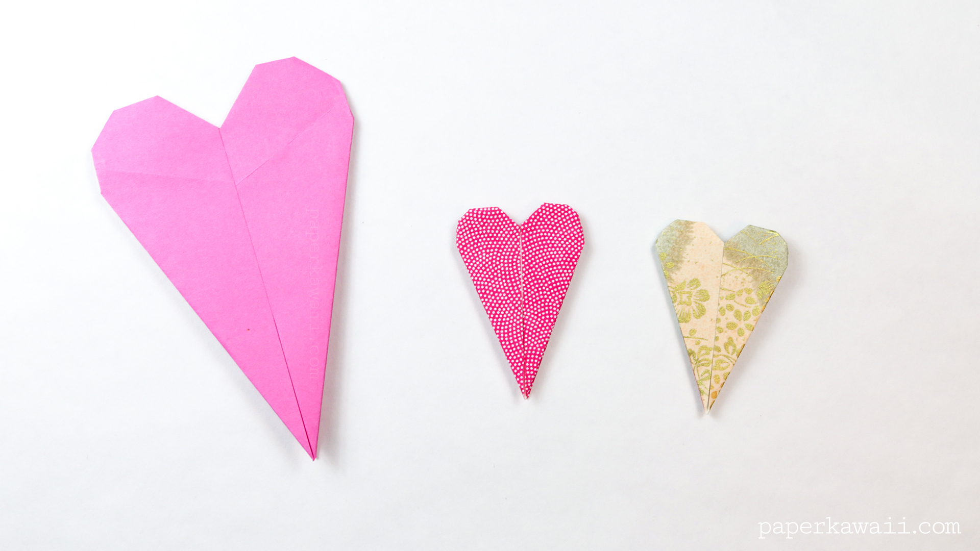 Thin Origami Heart Instructions - Paper Kawaii - photo#40
