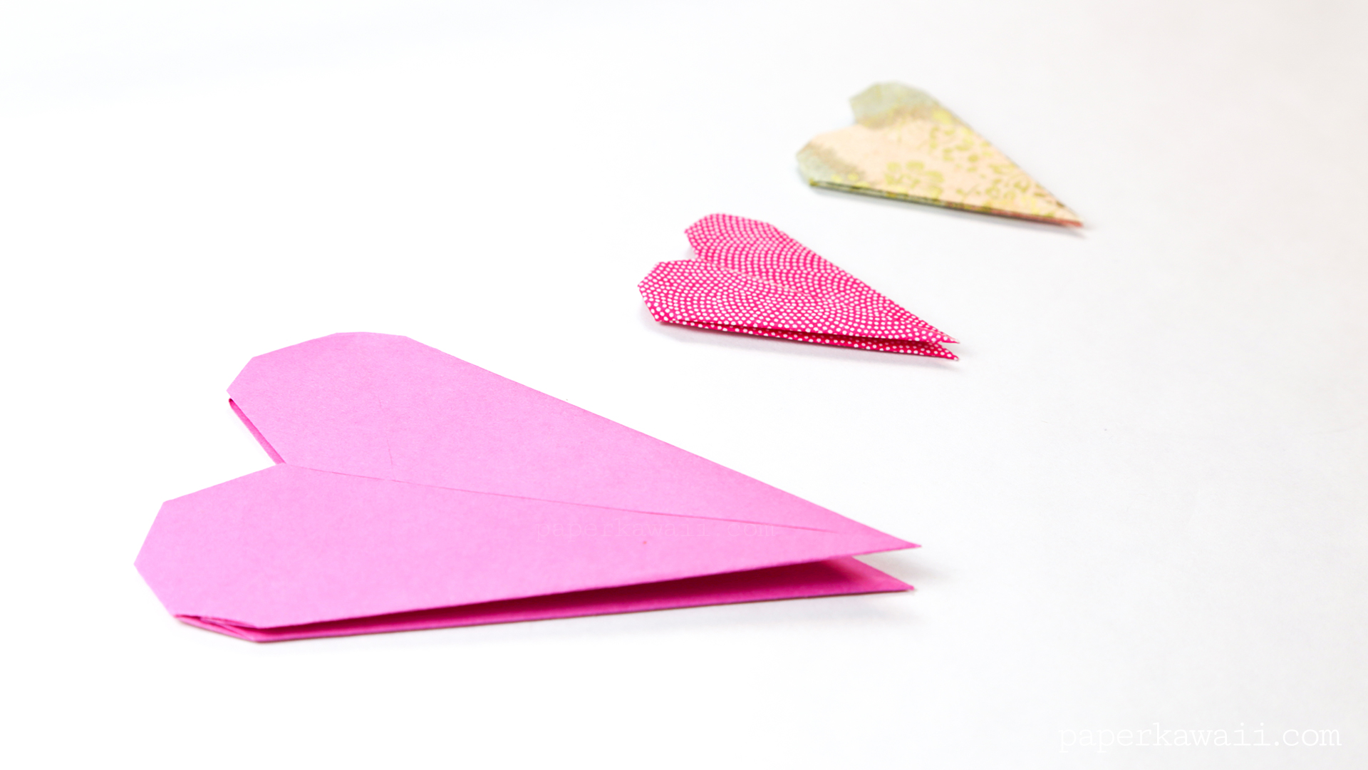 Thin Origami Heart Instructions - Paper Kawaii - photo#48