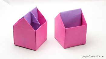origami toolbox or pencil pot - tutorial #diy #origami #box #crafts