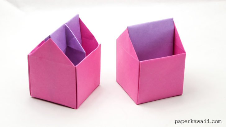 RECYCLABLES BLOG: DIY Flower Box | Paper Box | Origami | 410x728