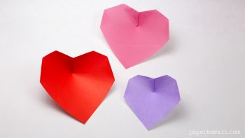 Super easy origami heart instructions #origami