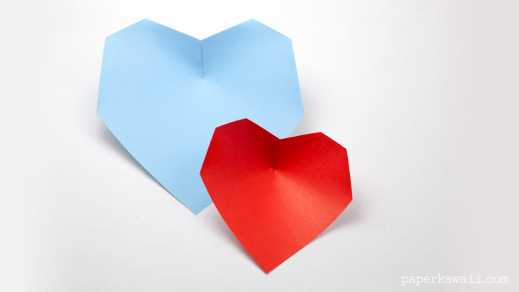 easy origami heart instructions