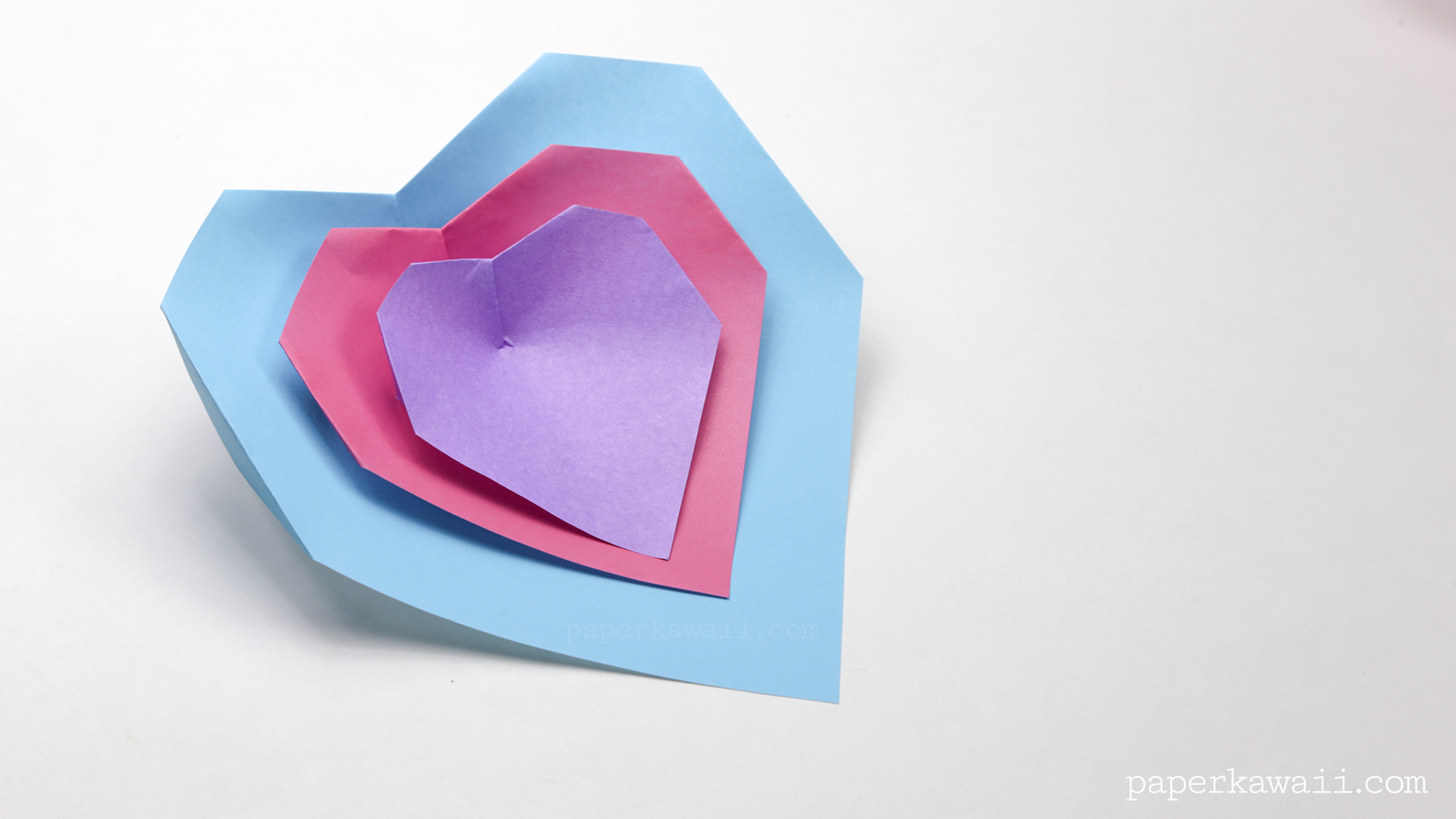 Super Easy Origami Heart Instructions - Paper Kawaii - photo#43