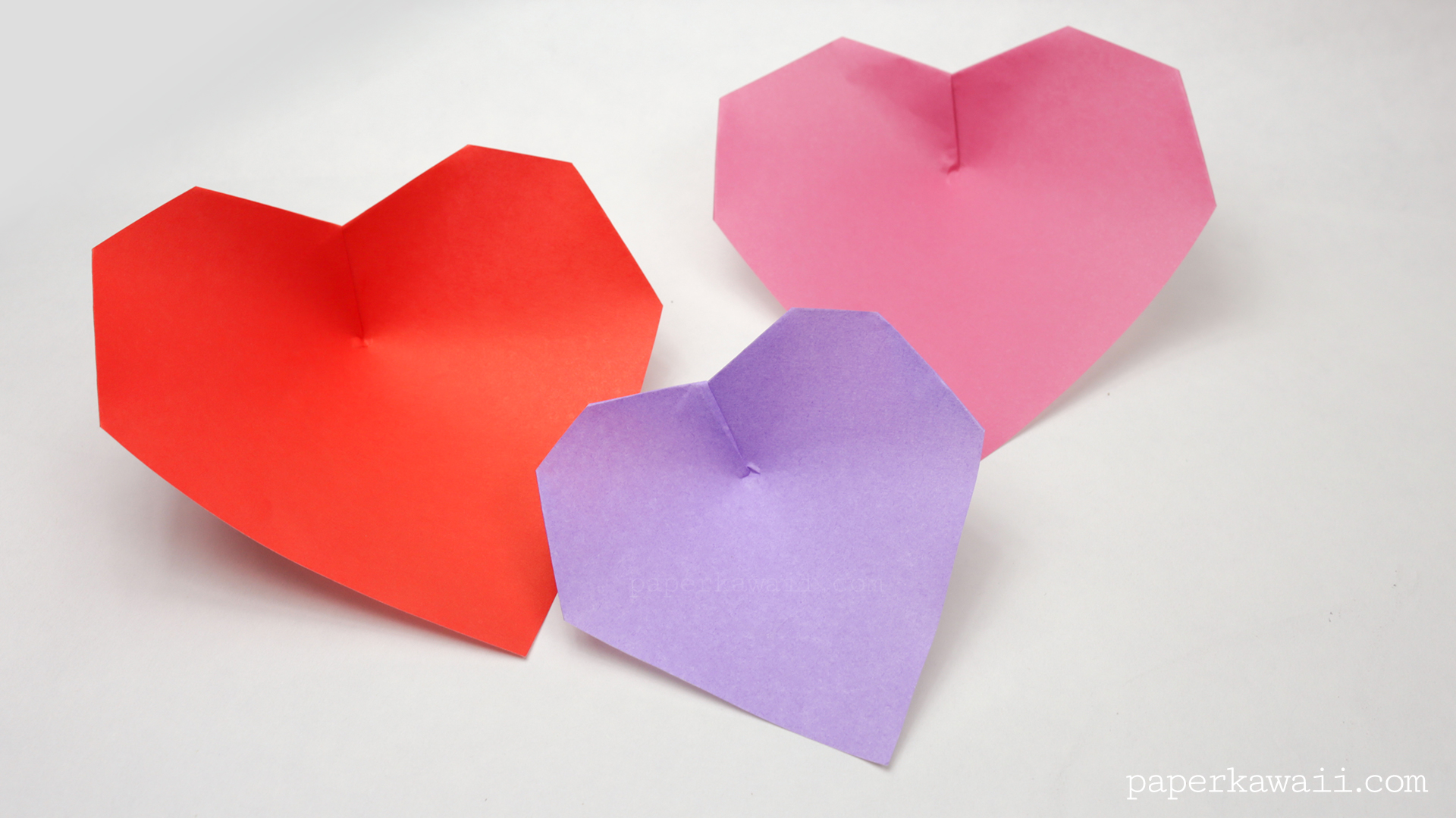 super easy origami heart instructions paper kawaii