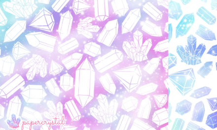 Free Printable Origami Paper – Crystal Galaxy Pattern