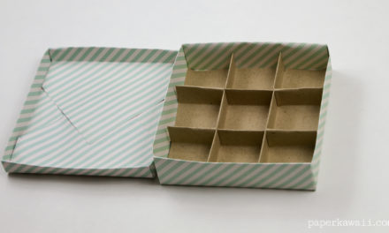 9 Section Origami Box Divider Instructions