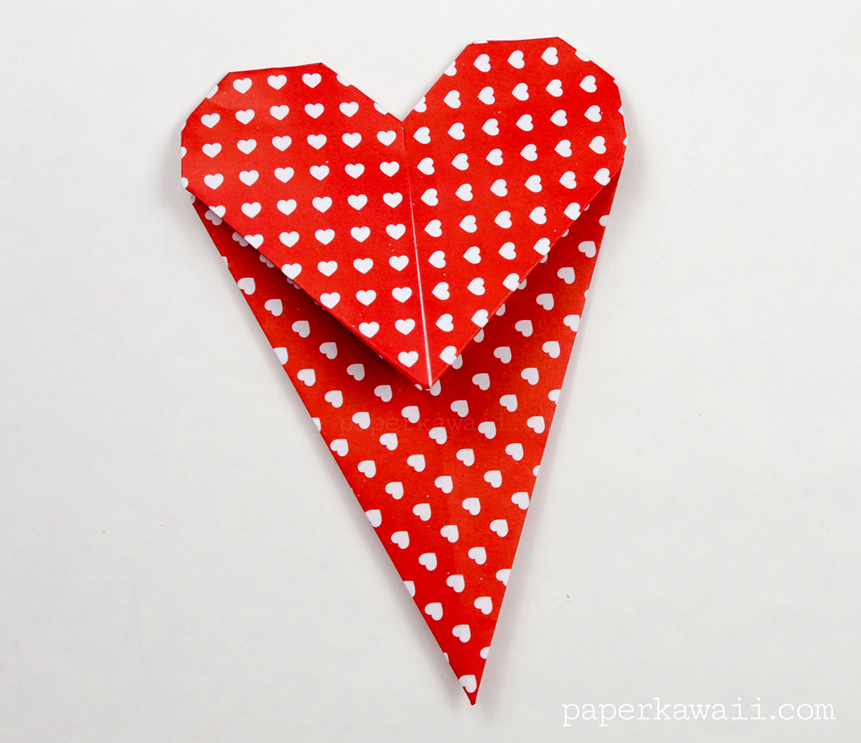 Fold Origami Heart Bookmark