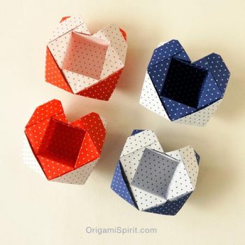 How to Make an Origami Heart-Box