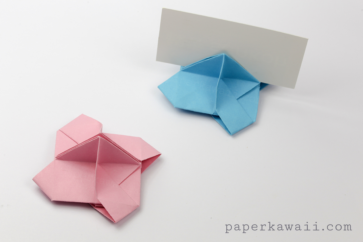 Origami Card Holder Instructions - Paper Kawaii - photo#26