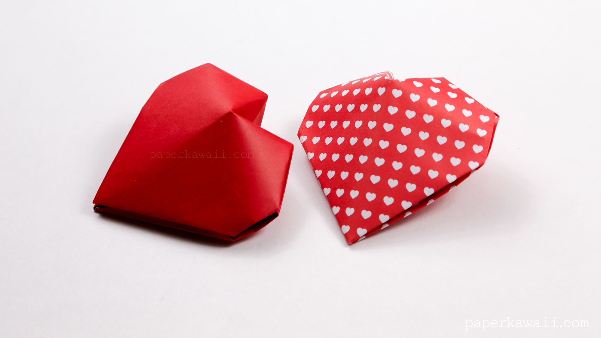 Origami 3D Puffy Heart Instructions - Paper Kawaii - photo#2