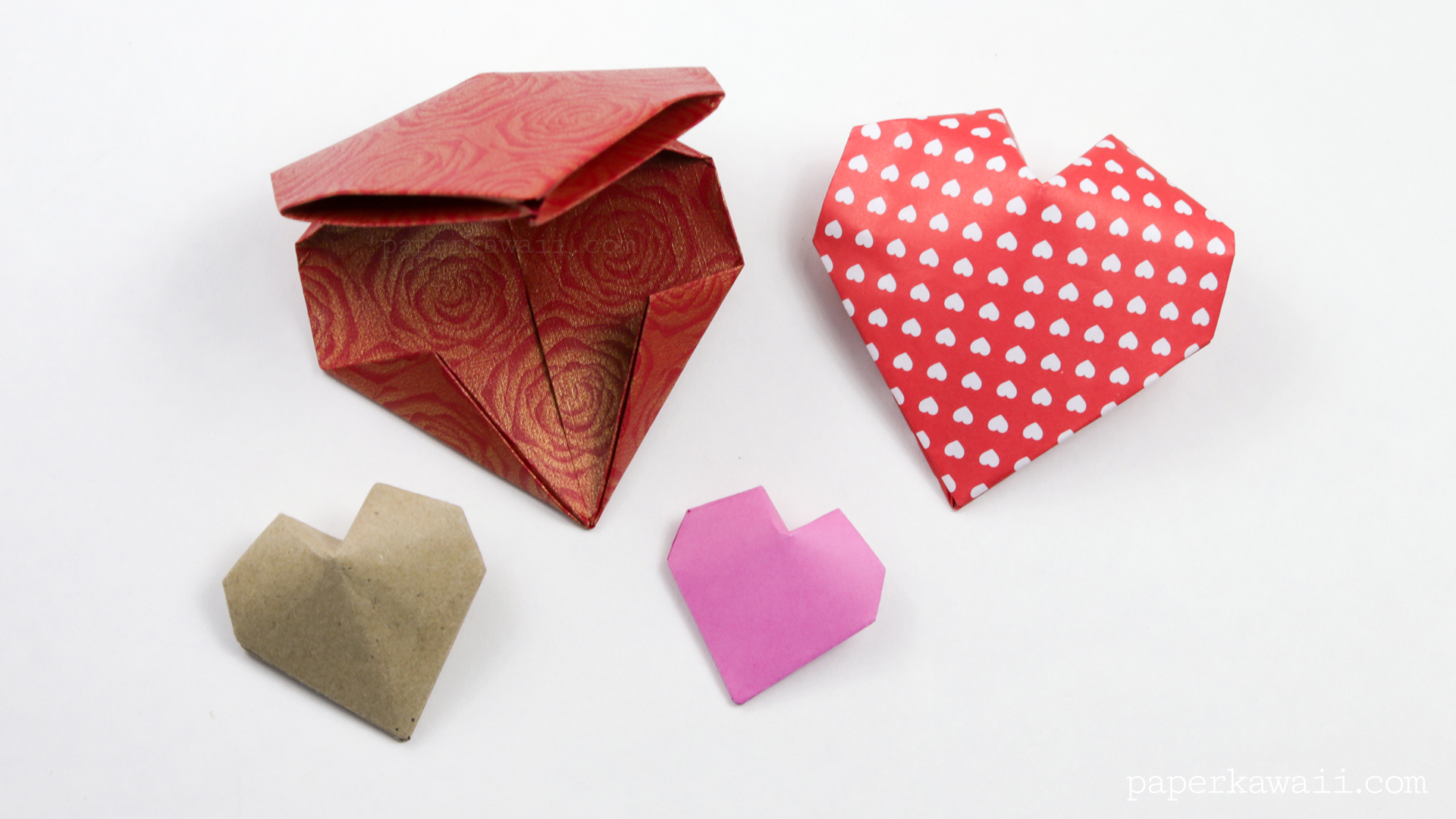 Origami 3D Puffy Heart Instructions - Paper Kawaii - photo#50
