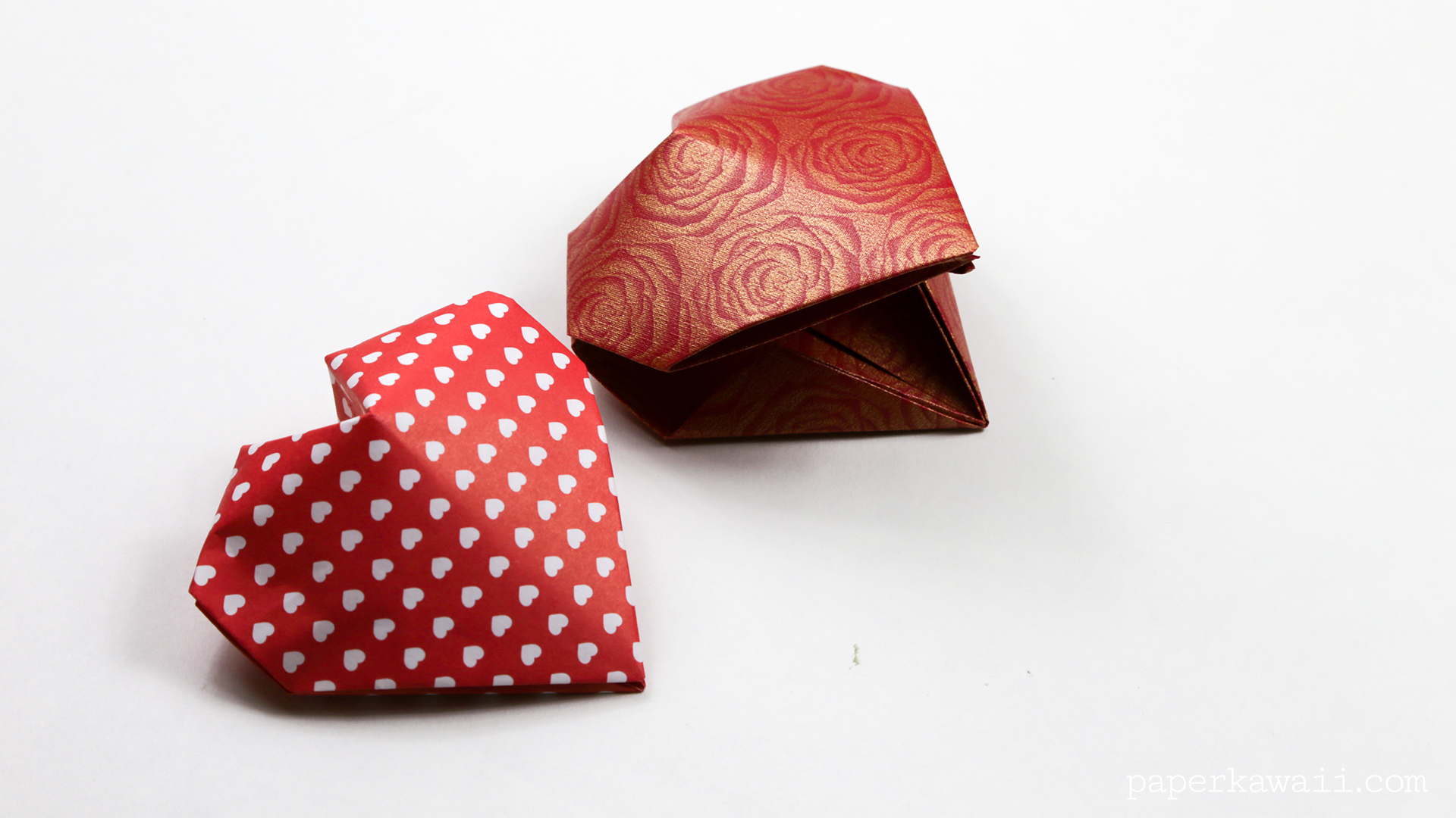 Origami 3D Puffy Heart Instructions - Paper Kawaii - photo#6