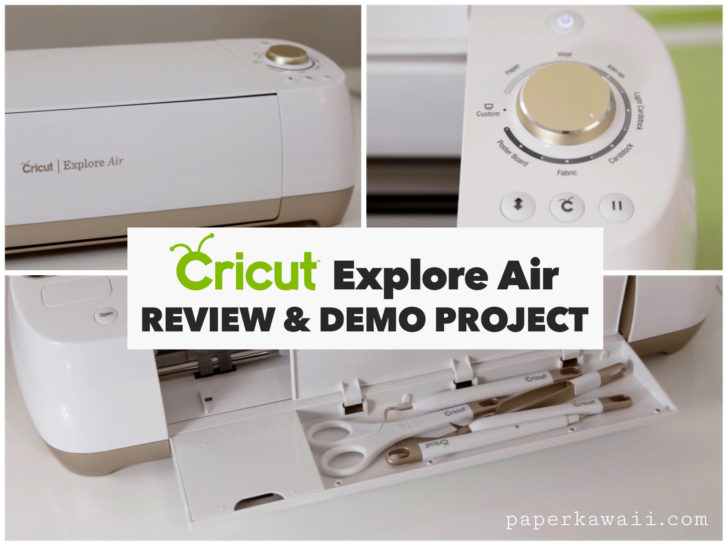 Cricut Explore Air Review & Demo Card DIY via @paper_kawaii