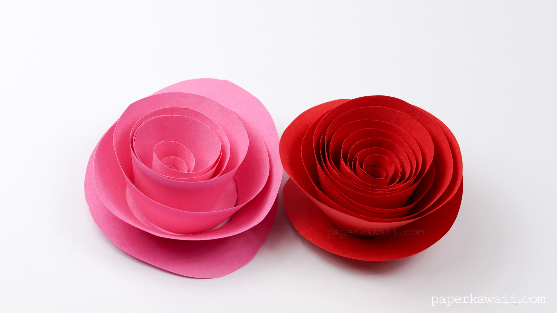 Easy Papercraft Rose Instructions  Paper Kawaii