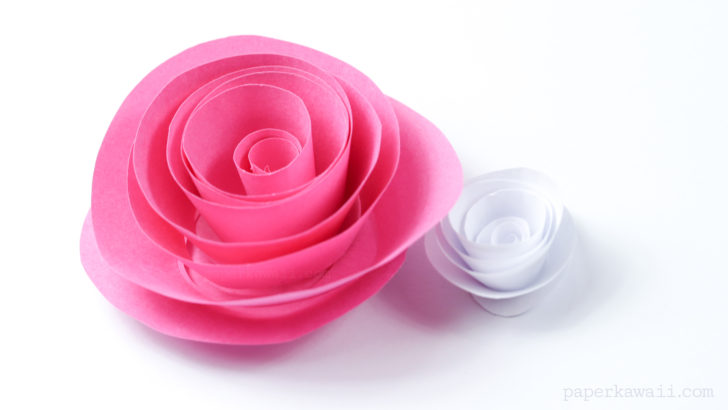 Easy Papercraft Rose Instructions - Paper Kawaii