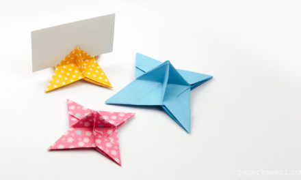 Origami Ninja Star Place Card Holder