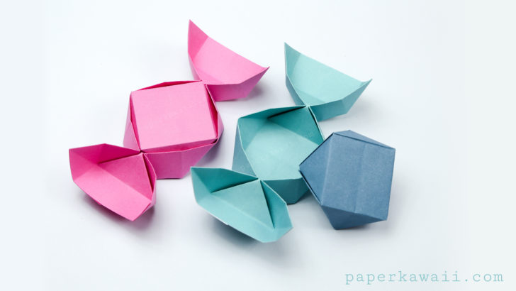 Square Paper Origami Frog