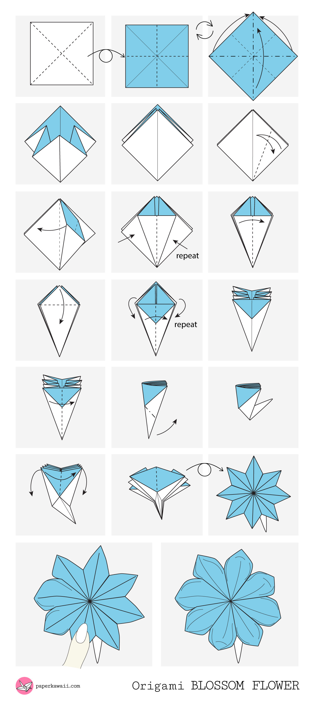 Origami Diagrams - Paper Kawaii - photo#1