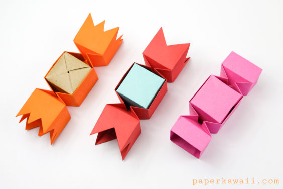 Square Origami Candy Box Instructions