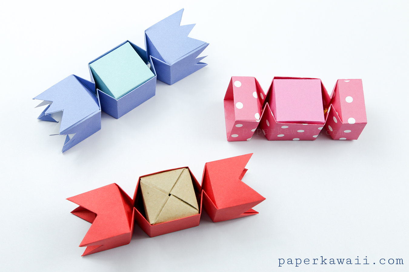 Check out my paper recommendations for more information on where I get my paper and also ideas and money saving tips. & Square Origami Candy Box Instructions - Paper Kawaii Aboutintivar.Com