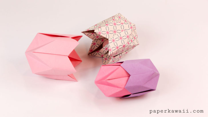 Origami Pentagonal Box Variations Tutorial via @paper_kawaii