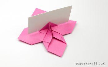 Origami Flower Card Holder Instructions