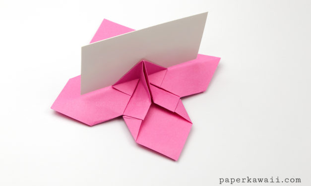 Origami Flower Card Holder Instructions