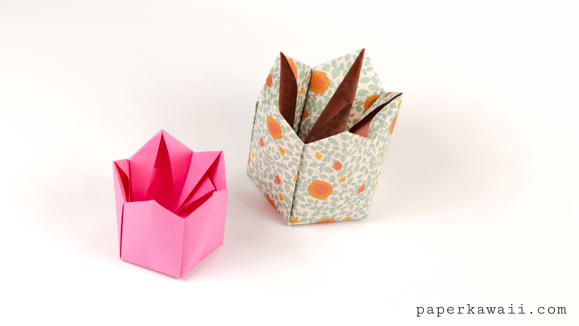 Pentagonal Origami Crown Box Lid Instructions Paper Kawaii Science Fiction Diagrams